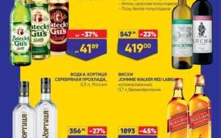 Акции в Ленте сегодня: каталог Алкогольной продукции с 1 по 14 апреля 2021 года